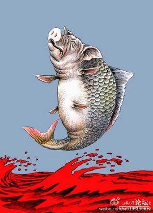 Источник мертвых свиней в речной воде шанхая по-прежнему остается неизвестным