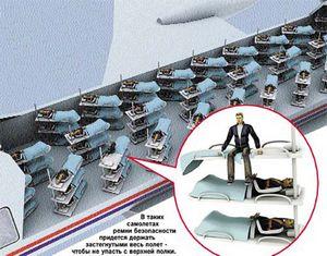 Кресла в самолетах хотят заменить