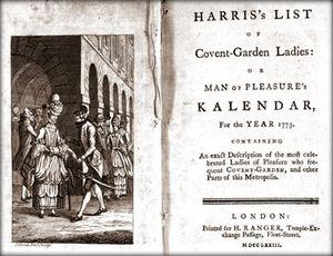 Лондонский музей купил каталог проституток 18 века