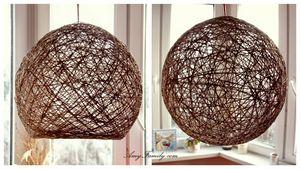 Мастер-класс по изготовлению абажура для люстры из ниток на основе воздушного шарика