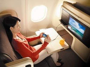 Новые развлечения на борту самолетов сингапурских авиалиний