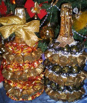 Оригинальные новогодние подарки из конфет