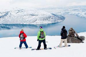 По скандинавии на лыжах