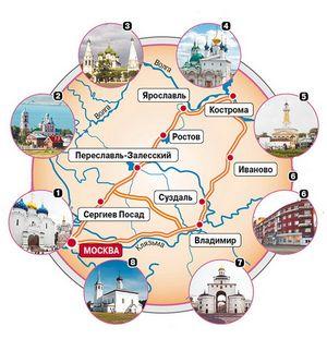 Золотое кольцо россии - что это: список городов, фото, маршрут на машине (сезон 2016)